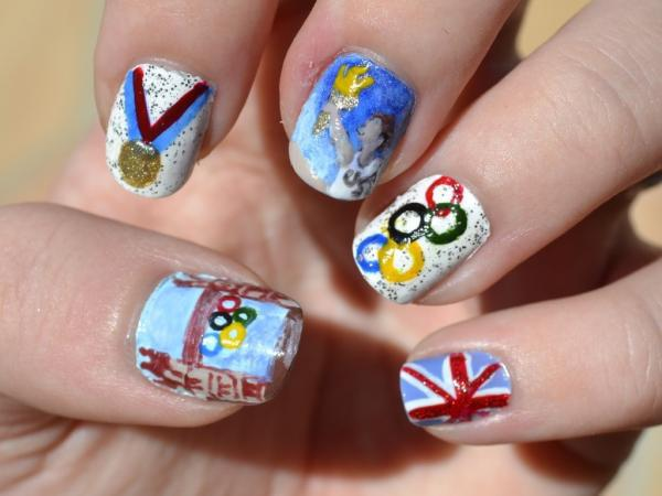 Olympic-Themed Nail Art in Photos Unravel the Art of Self