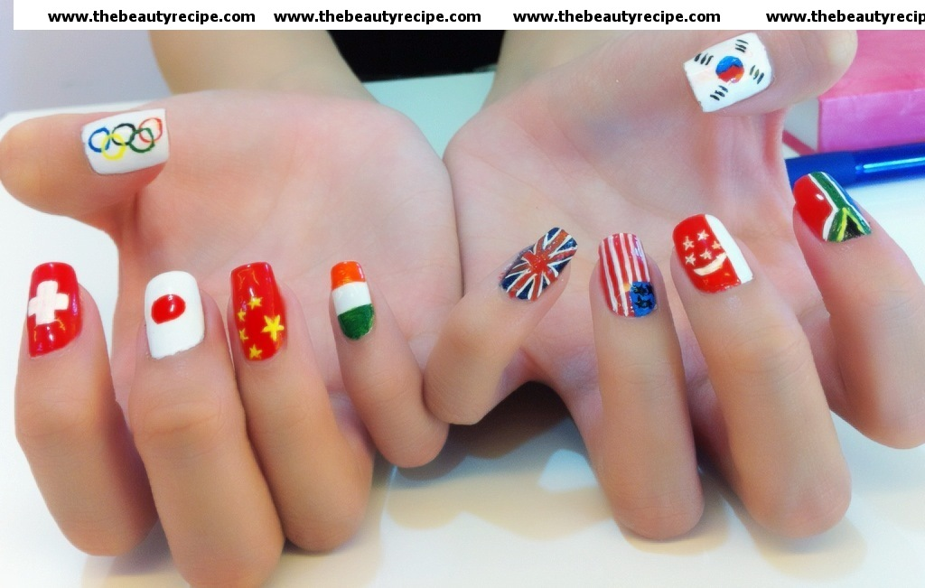 Olympic Themed Nail Art In Photos Unravel The Art Of Self Expression